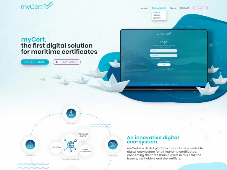 myCert - comprehensive websites for an entire digital ecosystem