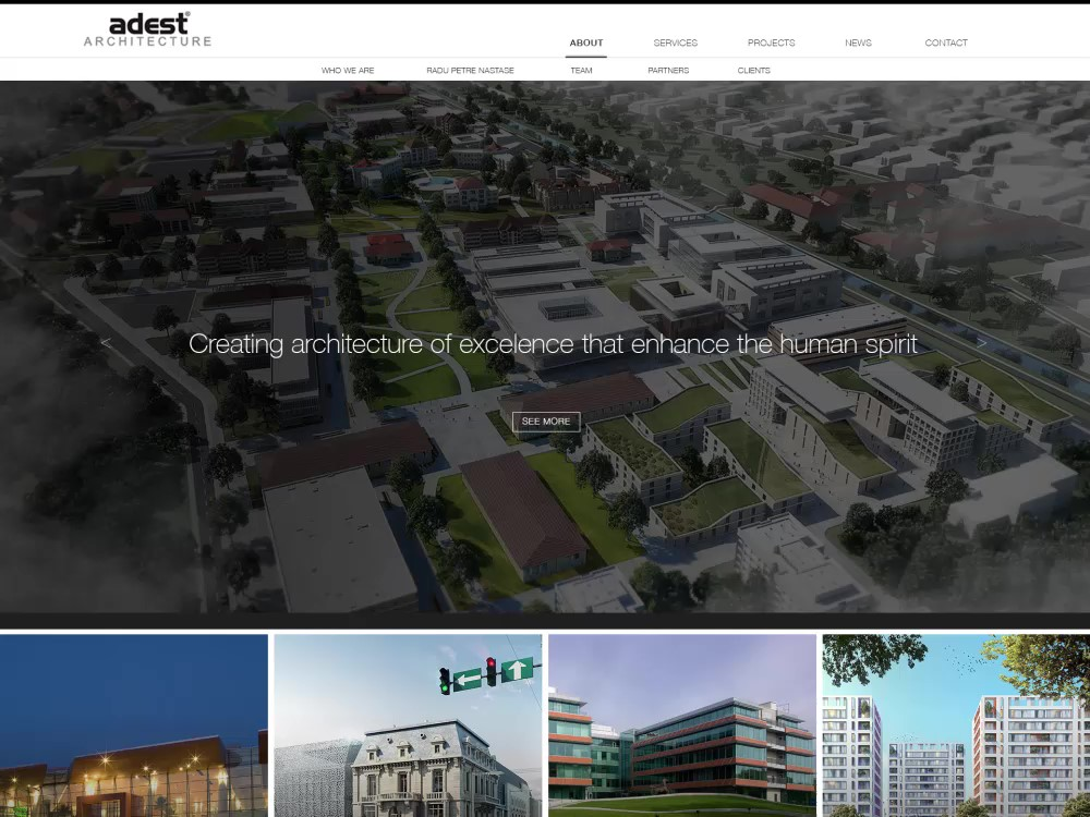 Adest site, or how to create the perfect site for an architecture company