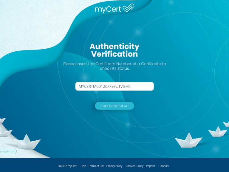 myCert a digital ecosystem for the maritime industry